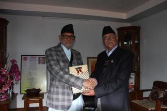 KP Oli Minister Nepal CPN UML With Sushil Koirala