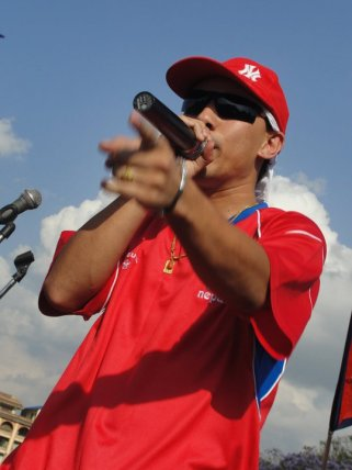 Nepali Singer Nirnaya at Nepal Unites Event