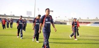 Nepali Team at ICC World T20 Qualifiers tournament