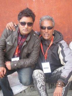 Robin at Bryan Adams Concert in Nepal