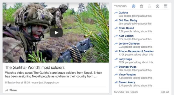 story of gurkha trending facebook