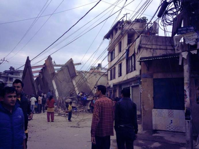 earthquake Nepal april houses damaged 5