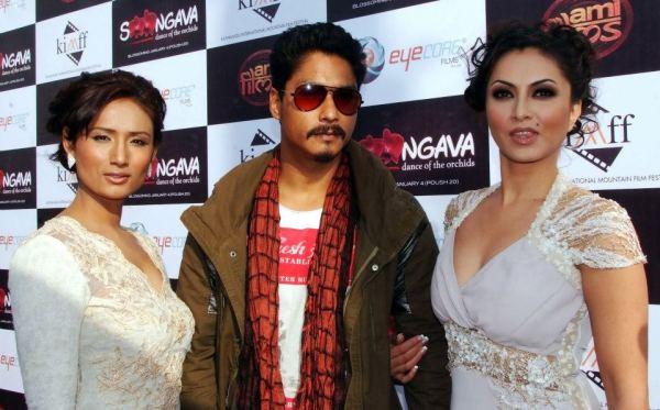 Actors of Soongava Nepali Movie at Premiere2