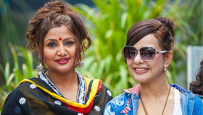 Deepa Shree Niraula and Pujana Stri Nepali Movies