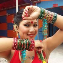 Dipasha BC Red Saree 1