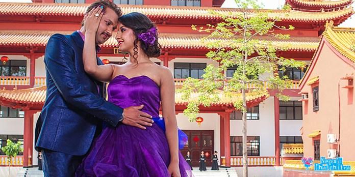 King Nepali Movie Nikhil Upreti Benisha Hamal Photoshoot