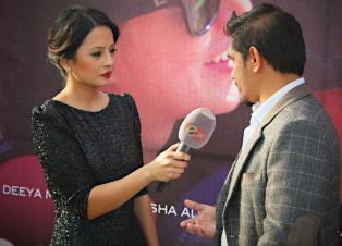 Malvika Subba and Subarna Thapa at Soongava Movie Premiere