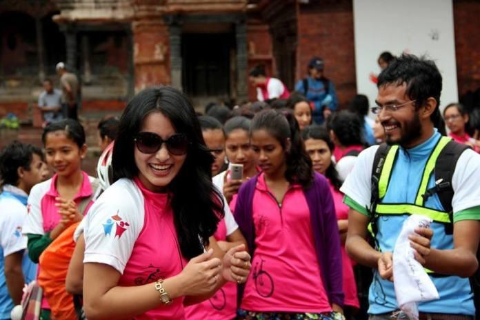 Namrata Shrestha Kathmandu Cycle City Rally 1