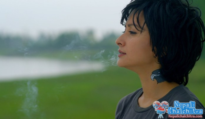 Namrata Shrestha Smoking in Chhadke