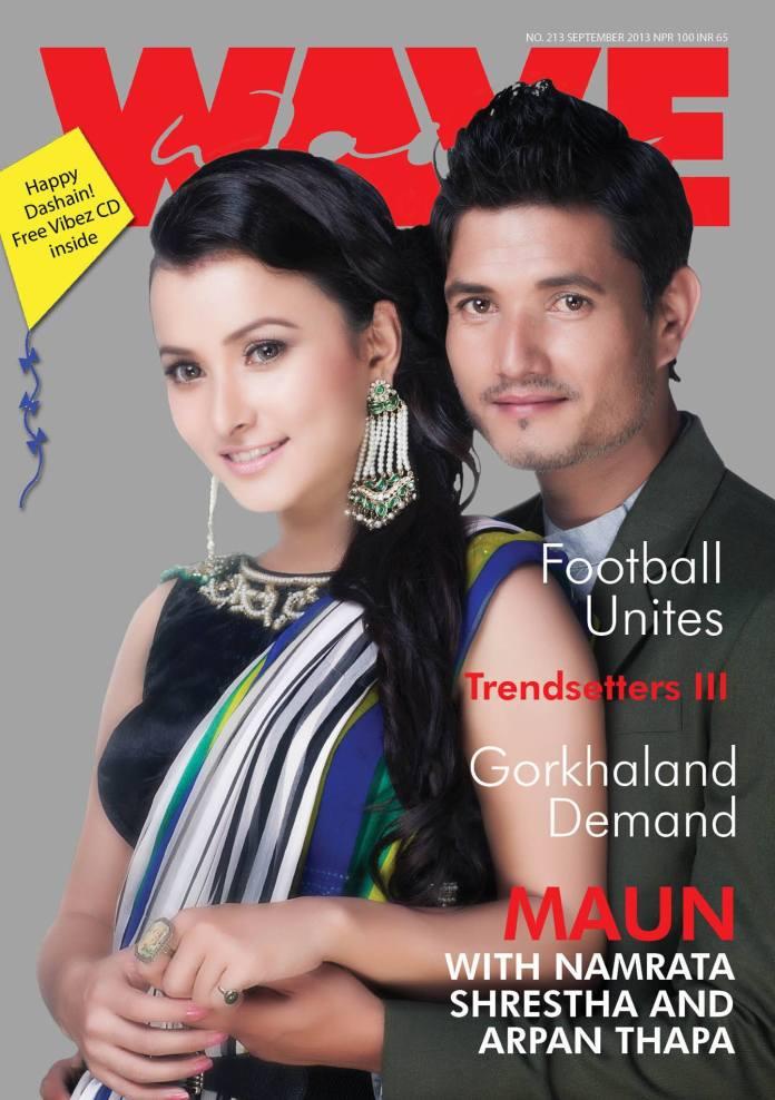 Namrata Shrestha and Arpan Thapa on cover of Wave Magazine