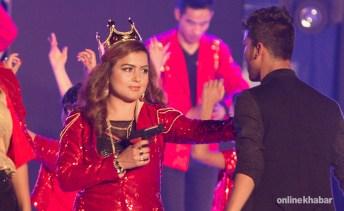 Rekha Thapa Performs in Kathmandu Nepal at AmarPanchhi Concert 3