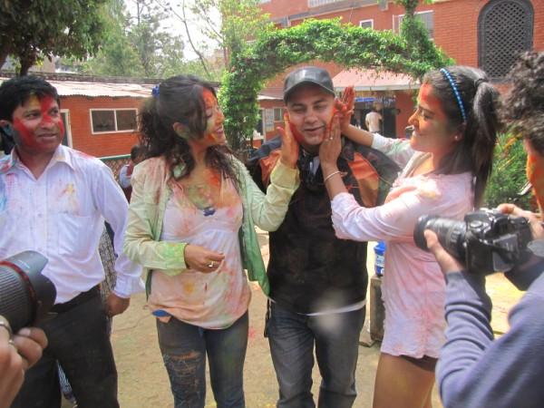 Rekha Thapa Playing Holi 2011 6