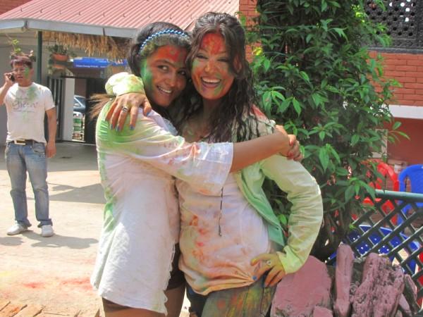 Rekha Thapa Playing Holi 2011 7