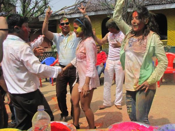 Rekha Thapa Playing Holi 2011 9