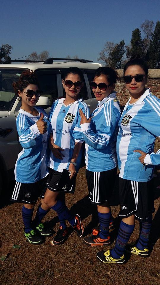 Sushma Karki Football Match Surkhet 4