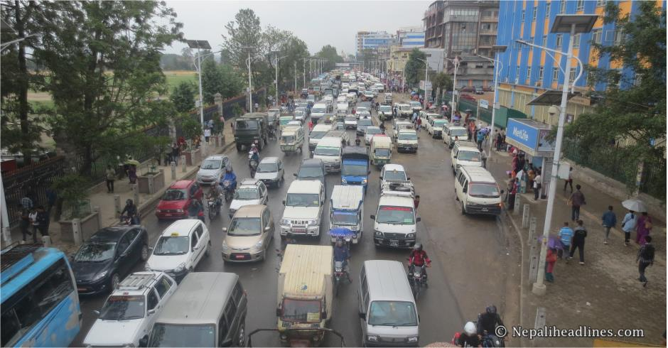 Public vehicles to ply Kathmandu roads from only sides