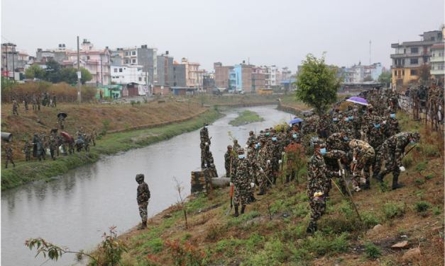 Three structures built illegally on Bagmati river banks demolished