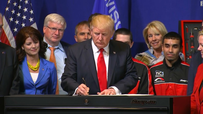 "Trump signs ""Buy American, Hire American"" executive order"