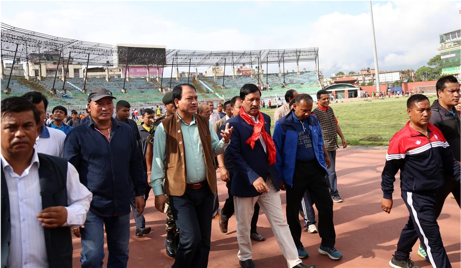 Sports minister KC inspects sports offices