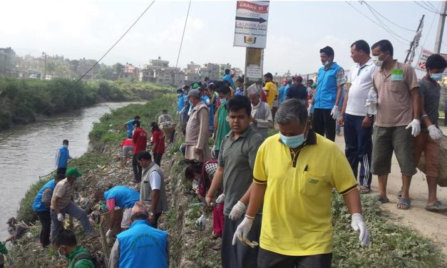 Manohara River Cleaning Campaign kicks off