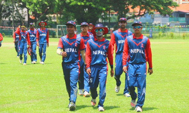Nepal celebrates 255-run victory over Thailand