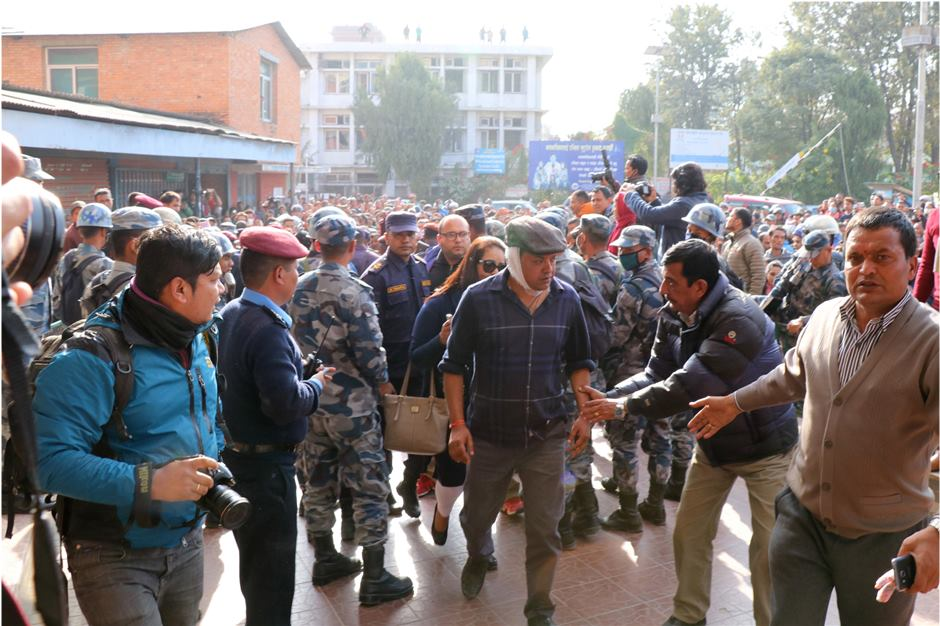 Left alliance condemns attack on Thapa