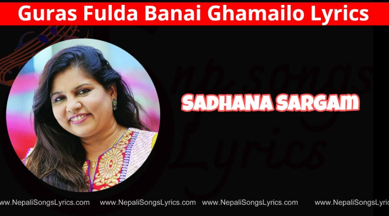 guras fulda banai ghamailo lyrics - Sadhana sargam - super star
