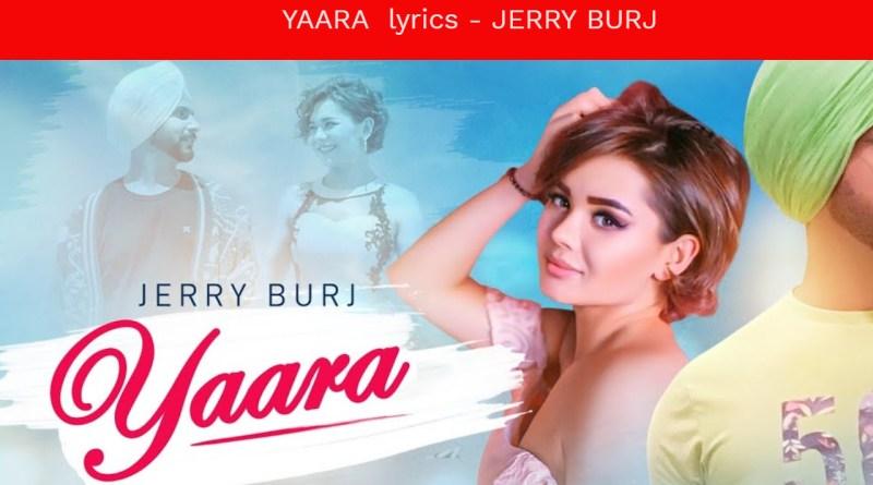 YAARA lyrics - JERRY BURJ