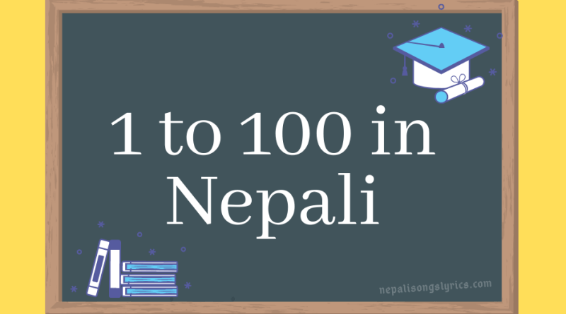 1 to 100 in Nepali - Cardinal & Ordinal Number system in Nepali language