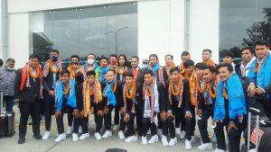 साफ उपविजेता नेपाली टिम स्वदेश फिर्ता