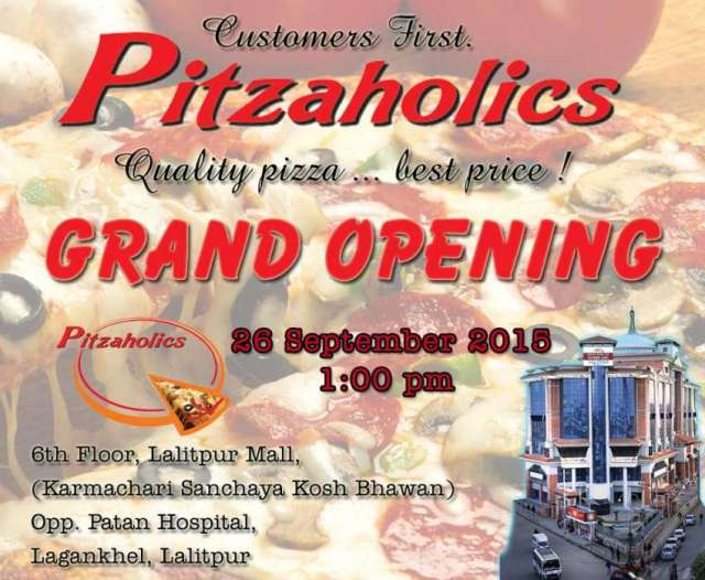Pizaholics outlets grand opening