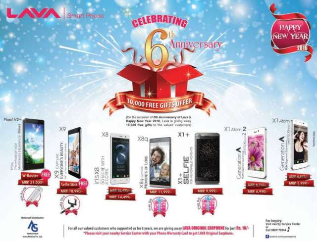 Lava Smartphone 6th anniversary offer