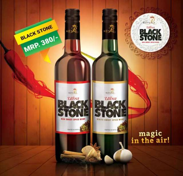 Royal Ultra Black Stone Spice Wine in Market