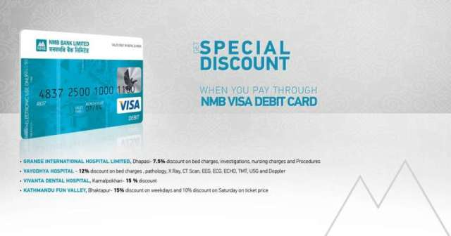 Get special discount when you pay through NMB VISA debit Card