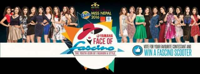 Vote for your favourite Miss Nepal Contestant an win a Fascino Scooter