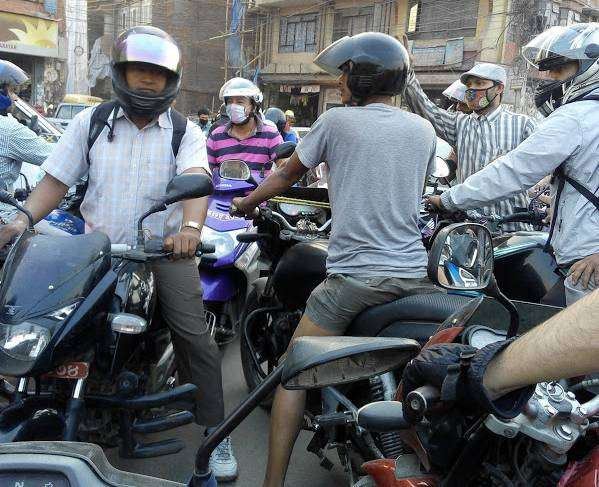 Traffic Jam in Kathmandu.