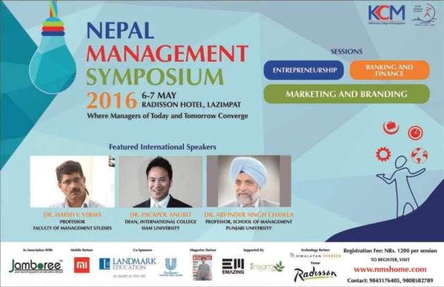 """Nepal Management Symposium"" From Friday"