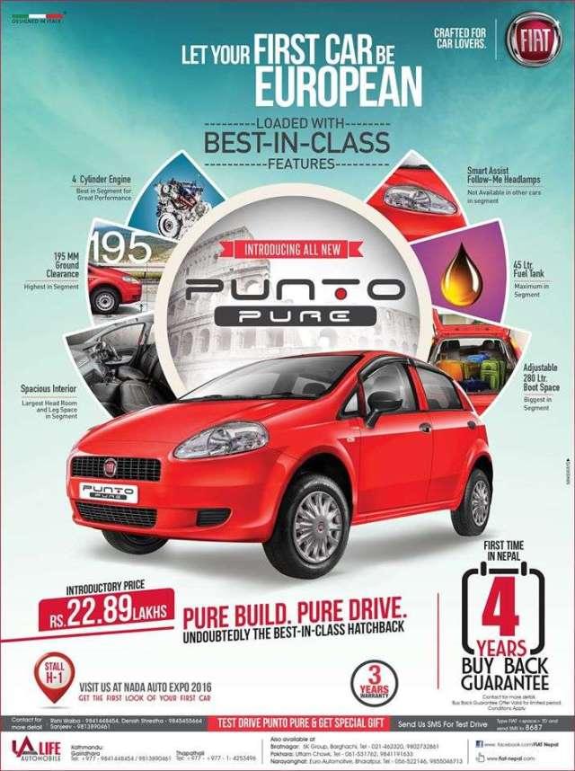 Fiat Punto Pure in Nepal