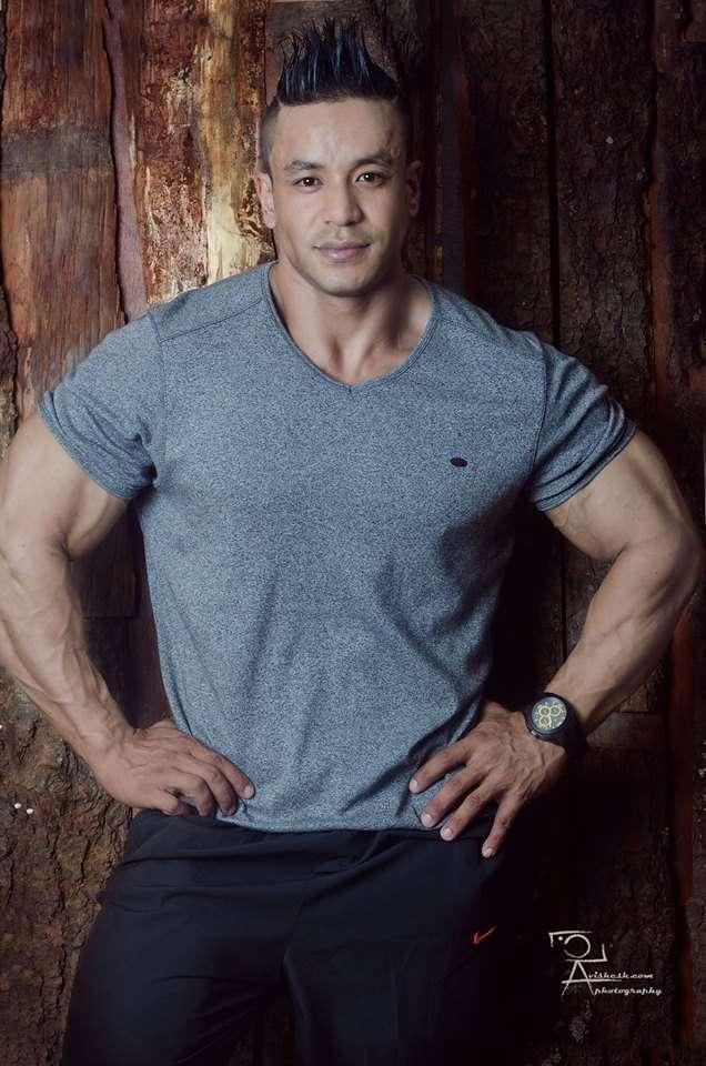 Mahesh Maharjan won Gold Medal in Men's Bodybuilding