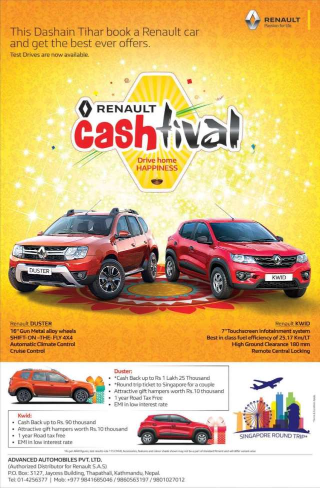 Renault Cashtival offer