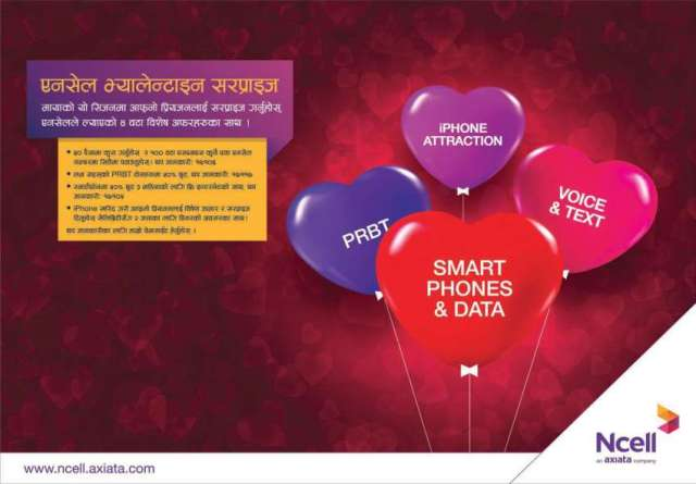 Ncell brings 'Valentine offers'