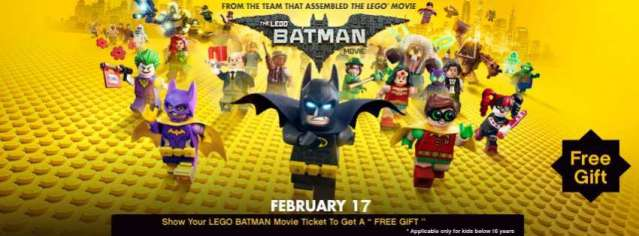Free LEGO Batman Movie Gift