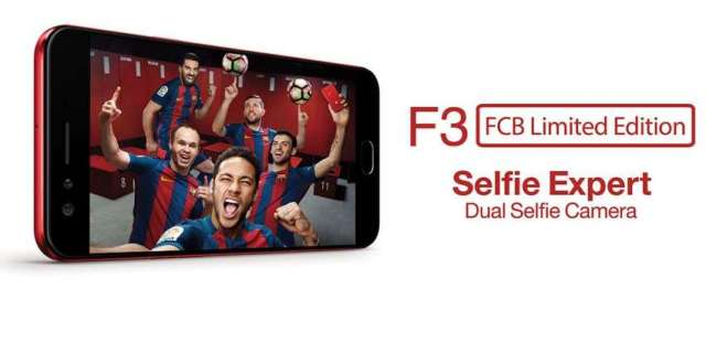 OPPO Launches F3 'FC Barcelona' Smartphones