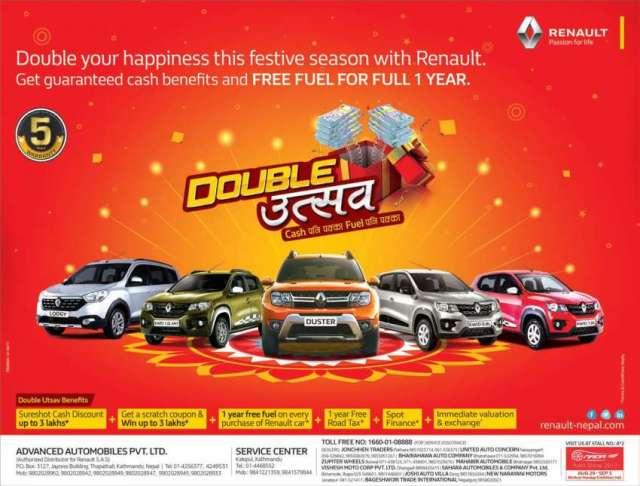 Renault announces 'Double Utsav' Campaign