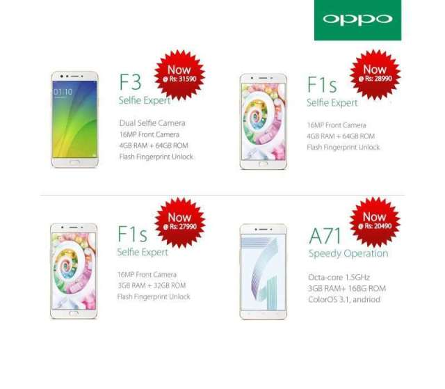 Oppo Revises Prices of its Phones