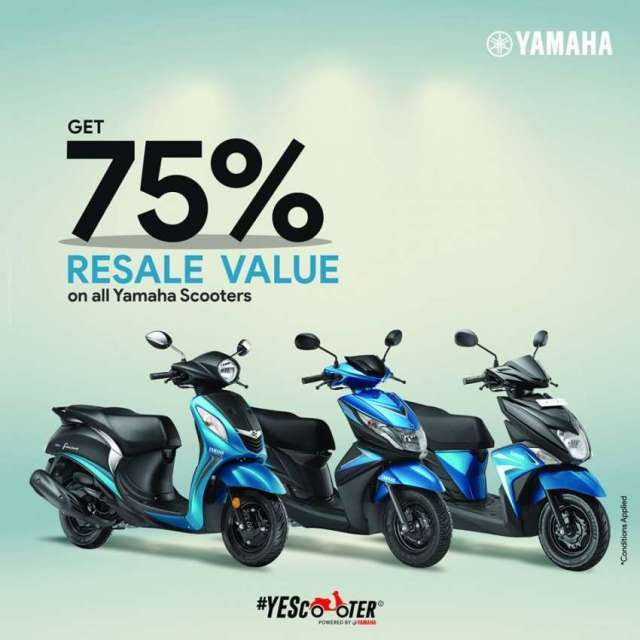 Yamaha announces 'Resale Promise' in scooters
