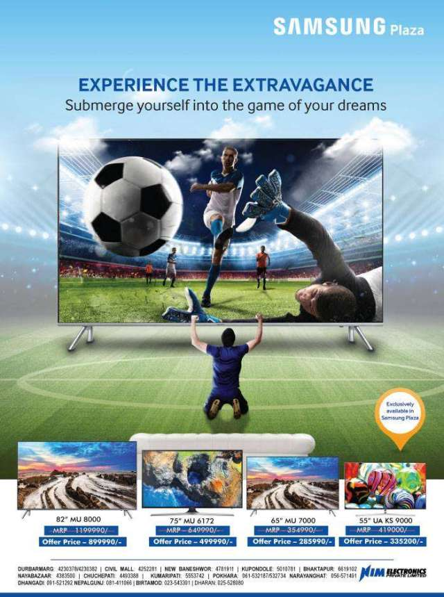 Samsung's Special Offer on TV during World Cup