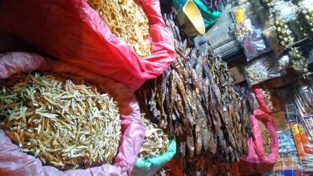 Dried fish shop at Ason, Kathmandu.