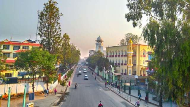 Ghanta Ghar (clock tower) and Nepali Jame Masjid