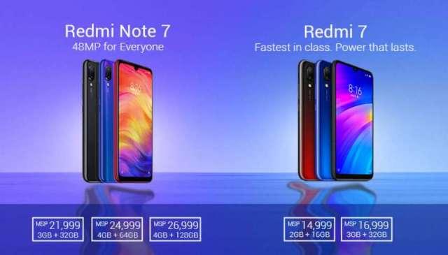 Xiaomi Redmi Note 7 and Redmi 7 Launched in Nepal